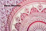 Daisy Pink Ombre Mandala Throw Set