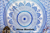 Daisy Blue Ombre Mandala Throw Set