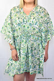 Hand Block Printed Cotton Kaftan Jacinta