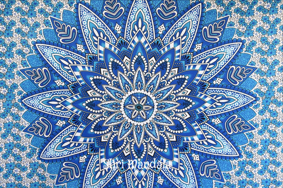 Neelkamal Blue Mandala Throw