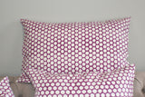 Purple Polka Dot Block Print Cushion