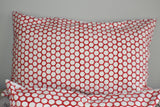 Coral Peach Polka Dot Block Print Cushion