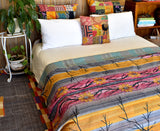 Indian Vintage Hand Made Kantha Quilt Rama