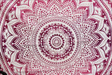 Yantra Pink Ombre Mandala Throw
