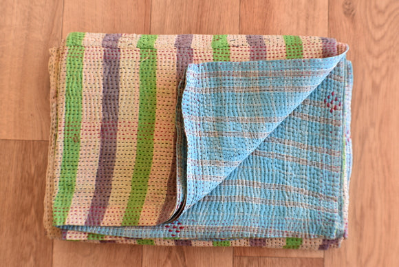 Indian Vintage Hand Made Kantha Quilt Throw Vidya