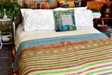 Indian Vintage Hand Made Kantha Quilt Throw Bhavana