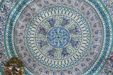 Bird of Prey Green Mandala Throw