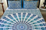 Harmony Lt Blue Mandala Throw Set