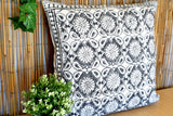 Floral Block Print Cotton Dari Cushion Cover Euro Size 65x65cm