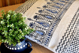 Block Print Tilak Cotton Dari Cushion Cover Burgundy Blue Size 65x65cm
