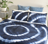 Wave Mandala Hand Tie and Dyed Doona Cover Set