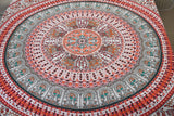 Bird of Prey Red Mandala Throw Set