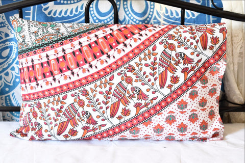 BOP Red Mandala Pillow Set