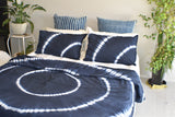 Wave Hand Tie and Dyed Doona Cover Set