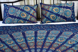 Harmony Peacock Mandala Throw Set