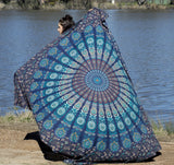 Harmony Peacock Mandala Throw