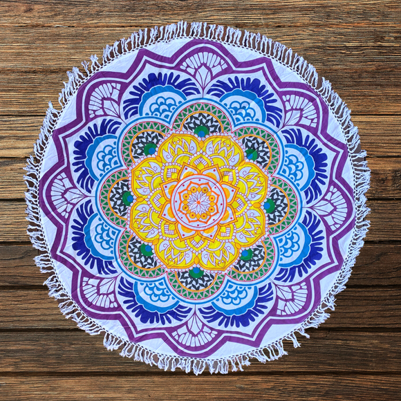 Blossom Bohemian Cotton Mandala Beach Round Throw