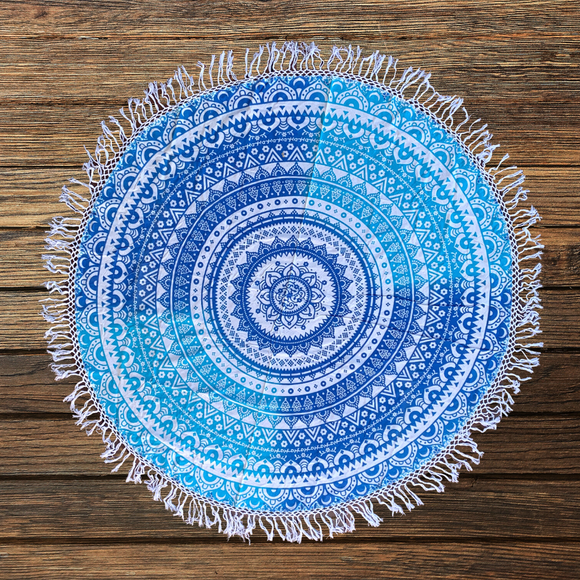 Shri Bohemian Cotton Mandala Beach Round Throw
