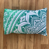 Star Turquoise Cotton Mandala Pillow Set 2Pcs