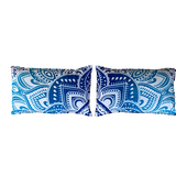 Passion Blue Cotton Mandala Pillow Set 2Pcs