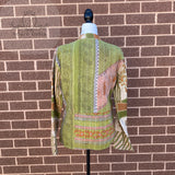 Indian Handmade Reversible Cotton Vintage Kantha Quilted Jacket MED-11
