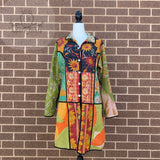 Indian Handmade Reversible Cotton Vintage Kantha Quilted Jacket LGE-1