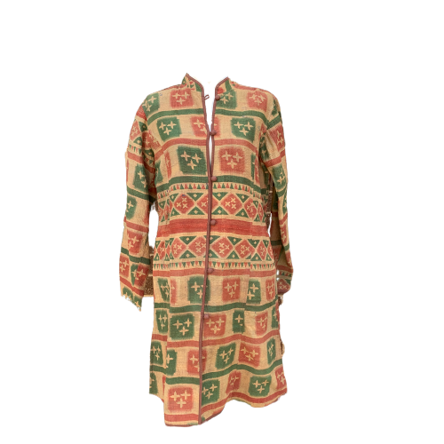 Indian Handmade Reversible Cotton Vintage Kantha Quilted Jacket LGE-2