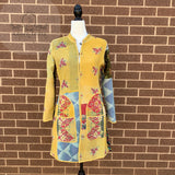 Indian Handmade Reversible Cotton Vintage Kantha Quilted Jacket SML-3