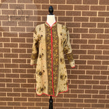 Indian Handmade Reversible Cotton Vintage Kantha Quilted Jacket MED-4