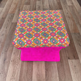Bohemian Embroidered Decorative Vintage Footrest Stool Seat