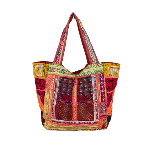 Large Indian Handmade Bohemian Vintage Banjara Hippy Shoulder Cross body Bag-1