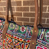 Large Indian Handmade Bohemian Vintage Tribal Banjara Hippy Shoulder Bag-4