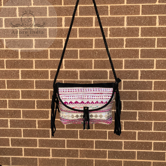 Indian Handmade Bohemian Vintage Tribal Banjara Hippy Shoulder Cross Body Bag-7