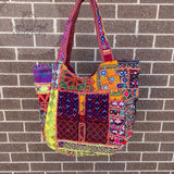 Large Indian Handmade Bohemian Vintage Banjara Hippy Shoulder Cross body Bag-11