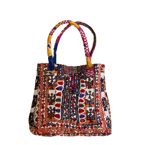 Large Indian Handmade Bohemian Vintage Tribal Banjara Hippy Shoulder Bag-14