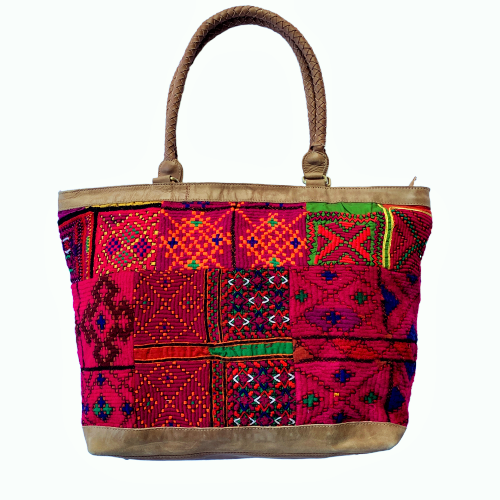 Large Indian Handmade Bohemian Vintage Tribal Banjara Hippy Shoulder Bag-12