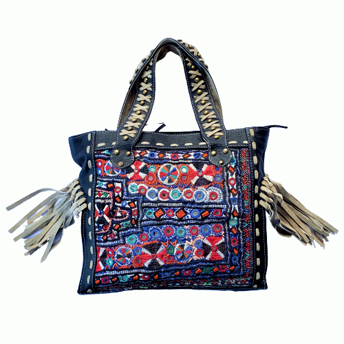 Indian Handmade Bohemian Vintage Tribal Banjara Hippy Shoulder Bag-5