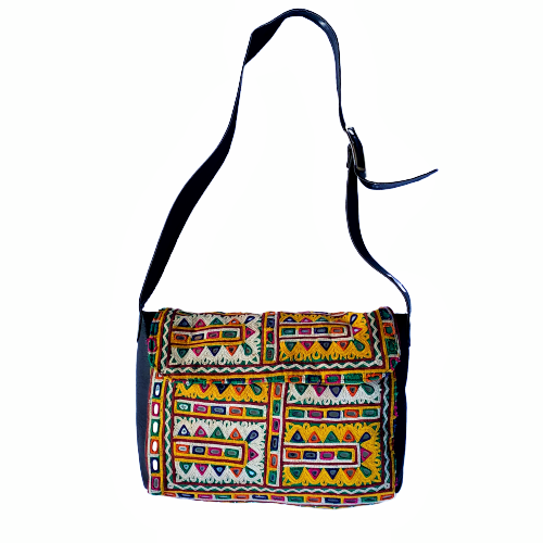 Indian Handmade Bohemian Vintage Tribal Banjara Hippy Shoulder Cross Body Bag-10