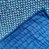 Indigo Royal Print Cotton Reversible Padded Baby Quilt Bedspread