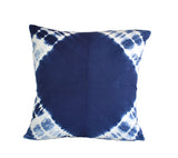 Hand Made Indigo Tie and Dye Moon Cushion Cover 40cms