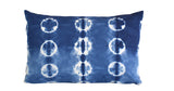 Hand Made Indigo Tie and Dye Dot Pillow Cover