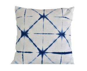 Hand Made Indigo Tie and Dye Orion Cushion Cover 40cms
