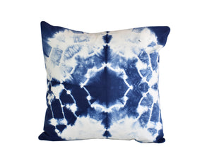 Hand Made Indigo Tie and Dye Galaxy Cushion Cover 40cms