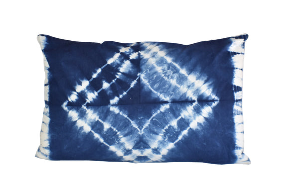 Hand Made Indigo Tie and Dye Star Pillow Cover