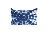 Hand Made Indigo Tie and Dye Circle Pillow Cover