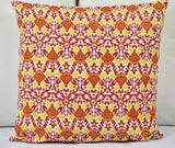 Hand Screen Print Cushion Cover- Yellow