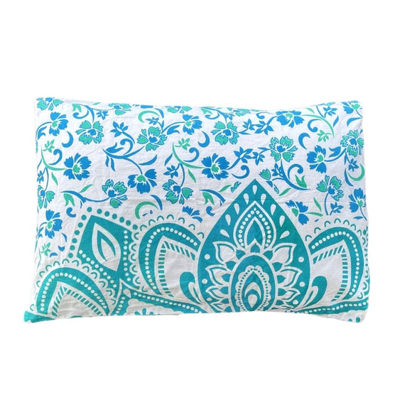 Passion Turquoise Cotton Mandala Pillow Set 2Pcs