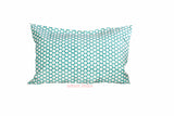 Turquoise Polka Dot Block Print Cushion
