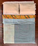 Handmade Indian Vintage Cotton Reversible Kantha Bedspread Throw- Shahi