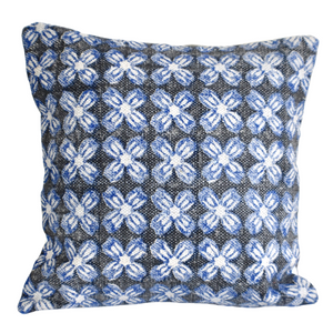 Indigo Hybrid Block Print Cotton Dari Cushion Cover 45cm